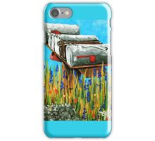 Rural Water Cooler Mail Mailbox Wildflowers Beautiful Country iPhone Case/Skin