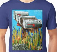 Rural Water Cooler Mail Mailbox Wildflowers Beautiful Country Unisex T-Shirt