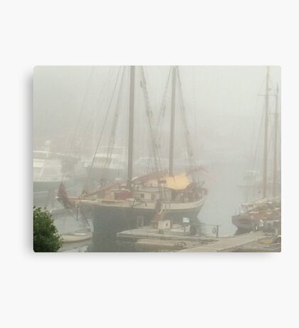 Docked at the Harbor Canvas Print
