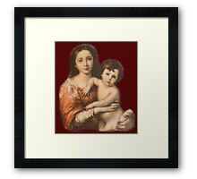 JESUS, Christ, Madonna and Child, Protection, Religion, Biblical, Miracle, Religious Icon Framed Print