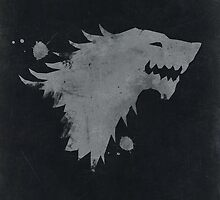 Game of Thrones House Stark BLACK by dylanwest2010