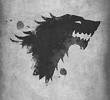 Game of Thrones House Stark White by dylanwest2010