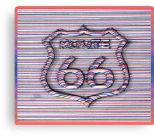 Route 66 3d line  Canvas Print
