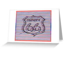 Route 66 3d line  Greeting Card