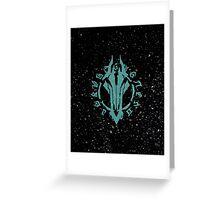 Darksiders Symbol (Blue) Greeting Card