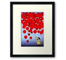 99 Red Ballons Framed Print