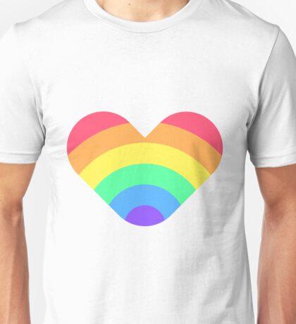 Conceptual print with rainbow heart Unisex T-Shirt