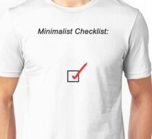 Minimalist Checklist Unisex T-Shirt