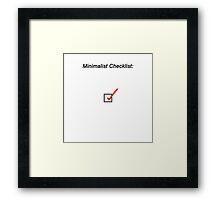 Minimalist Checklist Framed Print