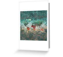 World Map Square Greeting Card