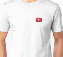 Youtube Button White Background Unisex T-Shirt
