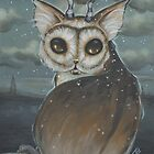 Meowl- owl cat by WhiteStagArt