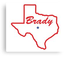 Brady Texas Canvas Print