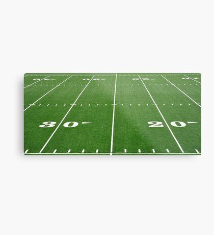 Football Field Hash Marks Metal Print