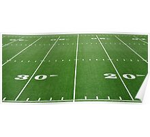Football Field Hash Marks Poster