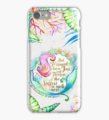 But A Mermaid Has No Tears iPhone Case/Skin