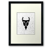 Irken Military Symbol (Black) Framed Print