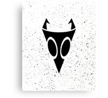 Irken Military Symbol (Black) Canvas Print