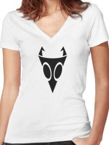 Irken Military Symbol (Black) Women's Fitted V-Neck T-Shirt