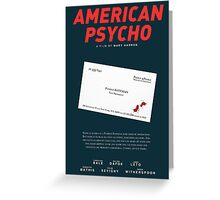 American Psycho - Bateman's blood-smeared business card Greeting Card