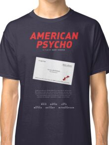 American Psycho - Bateman's blood-smeared business card Classic T-Shirt