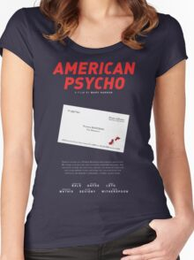 American Psycho - Bateman's blood-smeared business card Women's Fitted Scoop T-Shirt