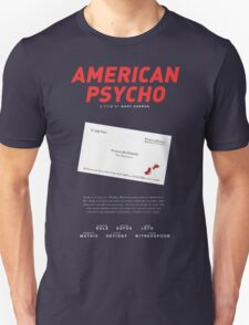 American Psycho - Bateman's blood-smeared business card Unisex T-Shirt