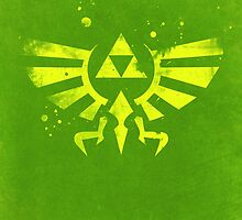 Legend of Zelda Hyrule Crest Green by dylanwest2010