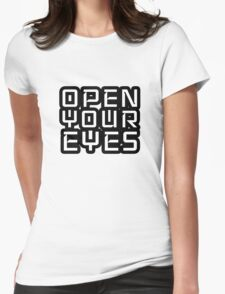 Open Your Eyes LSD Peace Freedom Womens Fitted T-Shirt
