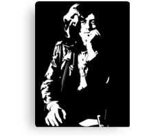 jimmy page legend black and white decal Canvas Print