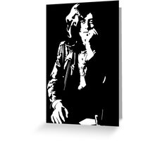 jimmy page legend black and white decal Greeting Card
