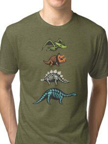 Fossil dinosaurs Tri-blend T-Shirt