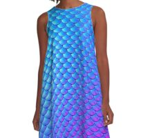 Mermaid Scales 2 A-Line Dress