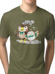 Blathers & Rowlet Tri-blend T-Shirt