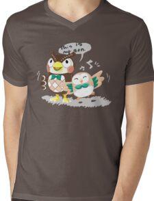 Blathers & Rowlet Mens V-Neck T-Shirt