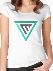 Triangle Retro Logo Women's Fitted Scoop T-Shirt