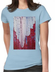 Snowy Canyon original painting Womens Fitted T-Shirt