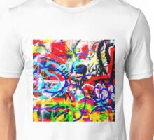 Gritty Crazy Graffiti Unisex T-Shirt