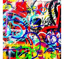 Gritty Crazy Graffiti Photographic Print