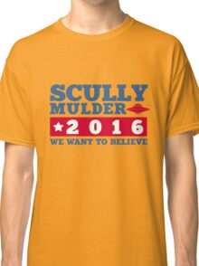 Scully & Mulder Campaign 2016 Classic T-Shirt