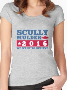 Scully & Mulder Campaign 2016 Women's Fitted Scoop T-Shirt