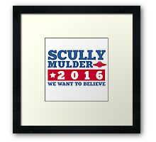 Scully & Mulder Campaign 2016 Framed Print