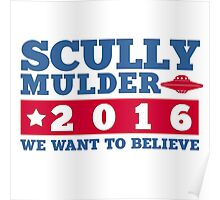 Scully & Mulder Campaign 2016 Poster