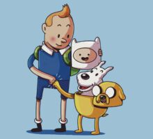 The Adventure Time of Tintin One Piece - Short Sleeve