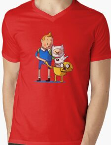 The Adventure Time of Tintin Mens V-Neck T-Shirt