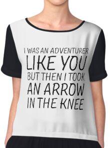 Elder Scrolls Skyrim Funny Quote Arrow To The Knee Chiffon Top