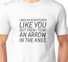 Elder Scrolls Skyrim Funny Quote Arrow To The Knee Unisex T-Shirt