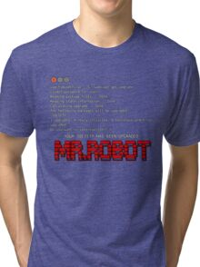 Terminal Code Mr.Robot Tri-blend T-Shirt