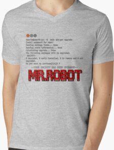 Terminal Code Mr.Robot Mens V-Neck T-Shirt