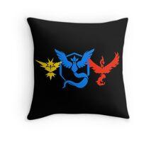 Pokemon Go Teams Throw Pillow